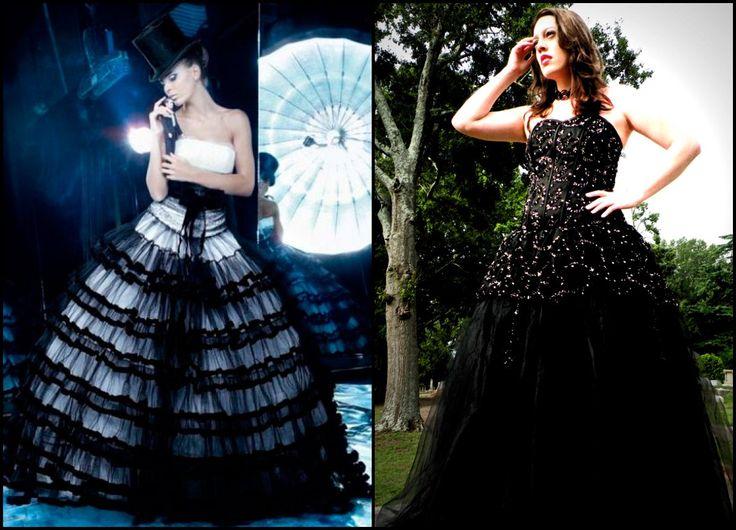 необычные платья и Готические свадебные платья