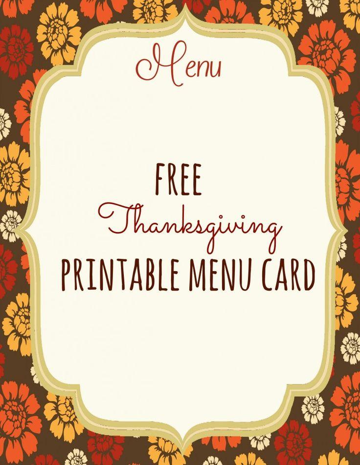 47 best Menovky na stôl images on Pinterest Free printable, Free - dinner menu template free