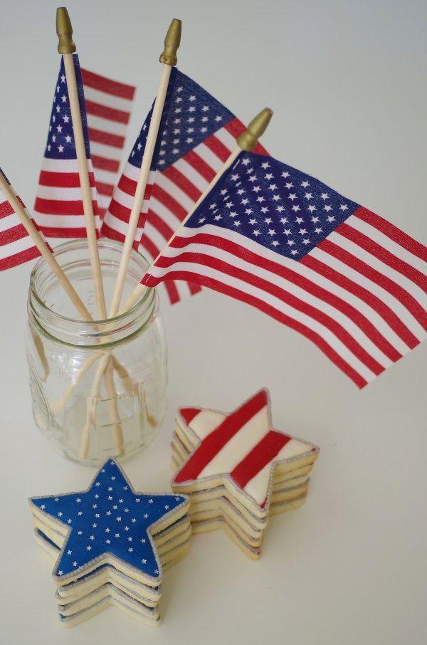 4th of July cookies, by doctorcookies