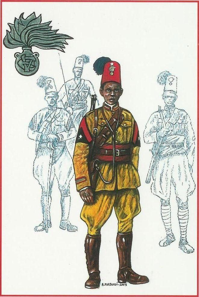 Regio Esercito - Truppe Coloniali - MUNTAZ DEGLI ZAPTIE' – A.O.I. 1940-41