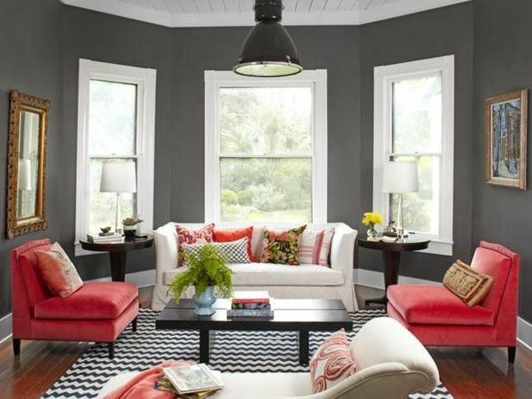 9 besten Wohnzimmer Bilder auf Pinterest Esszimmer, Wandregale - wandgestaltung wohnzimmer grau rot