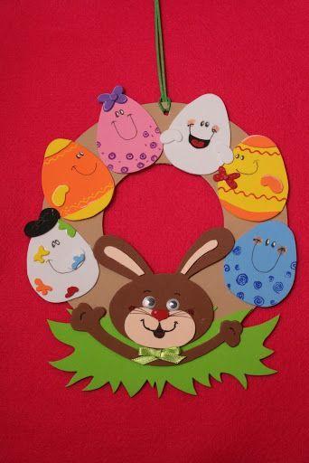 bunny easter wreath craft  |   Crafts and Worksheets for Preschool,Toddler and Kindergarten