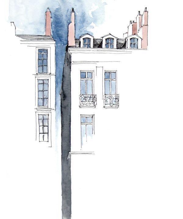 Nantes Illustration Drawing Draw Sketch Urbansketch