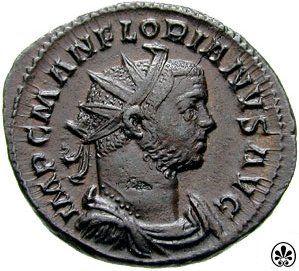 """9 EYLÜL Marcus Annius Florianus 276 yılında Roma imparatorluğu yapmıştır.  Anlatına göre Florianus Marcus Claudius Tacitus'un anne tarafından üvey kardeşiydi. Kaynaklara göre 276 yılında Roma Senatosu'nun onayı olmaksızın ordu tarafından Batı'da imparator seçilmişti. Ancak bastırdığı paralara """"S C"""" harflerini bastırarak Senato'ya bir bağlılık göstermiştir."""