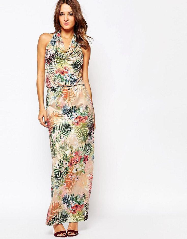 Amy Childs | Amy Childs - Liberty - Vestito lungo con stampa tropicale su ASOS