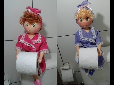 Como fazer boneca porta papel higiênico em eva by Vivian Balaban - YouTube