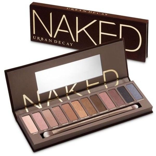 Urban Decay  Naked Palette ($54) ❤ liked on Polyvore featuring beauty products, makeup, eye makeup, eyeshadow, beauty, sin, blender brush, urban decay eye makeup, urban decay and blending brush eyeshadow