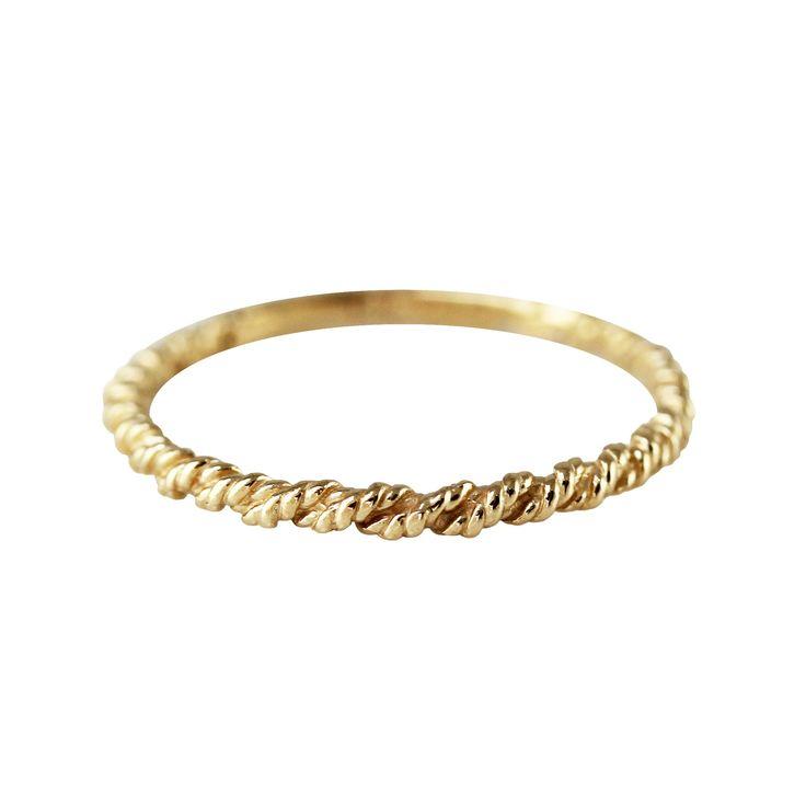 14K Marine Rope ring. Size 7