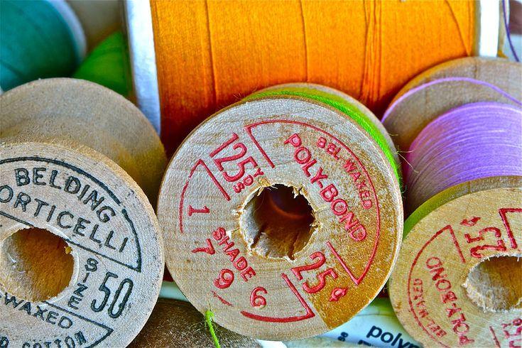 Spools Photograph  - Spools Fine Art Prints ~ #sewing #photography #macro :)
