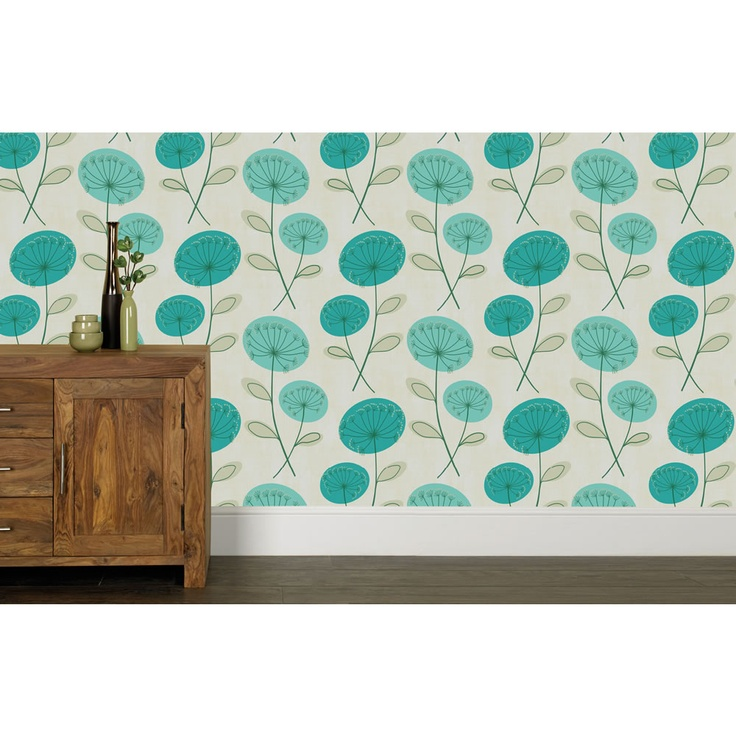 Bedroom? Wilko Marcia Wallpaper Teal 50-274