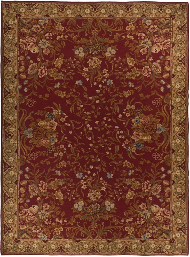 adria r aubusson rug style 5813r comes only in 10x14 - Aubusson Rugs