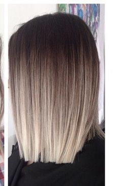 ashy ombre <<my hair is very similar to this>> Jenn used ash