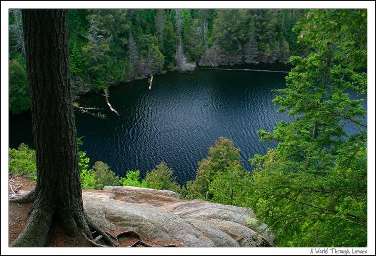 Algonquin Provincial Park in Ontario, Canada. Hemlock Bluff Trail, Jack Lake