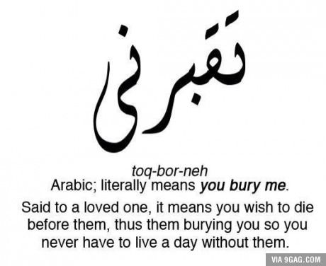 "In Arabic we don't just say ""I Love You""..."