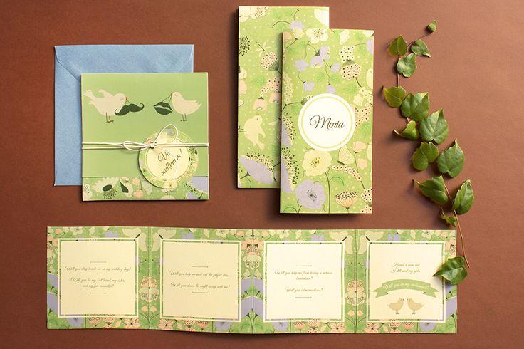 Verde curat. Tril de păsărele, picioare goale în iarba rece, maci și sămânță de fericire. Această invitație e pentru doi îndrăgostiți diferiți, proaspeți și bucuroși de ce le-a adus viața. #setthedate #design #invitatiinunta #nunta #invitatii #weddingideas #weddinginvitations #invites #weddinginvites #weddingstationery