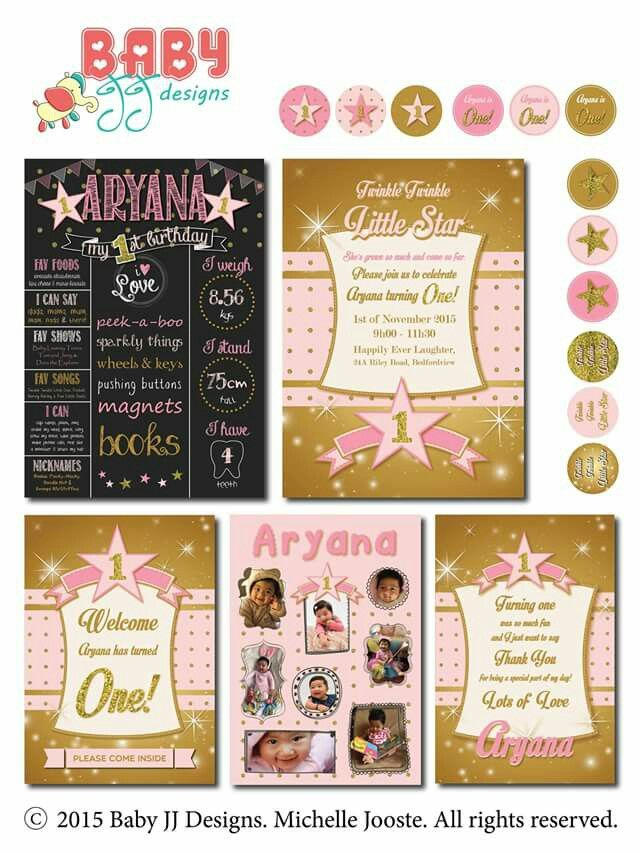 Little Star Birthday Design Package by Baby JJ Designs https://facebook.com/babyjjdesigns