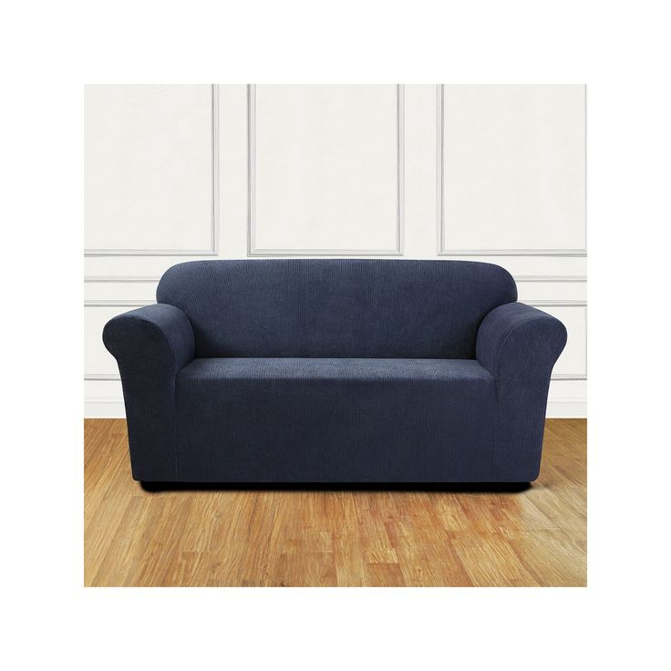 Sure Fit Stretch Chenille Loveseat Slipcover, Blue