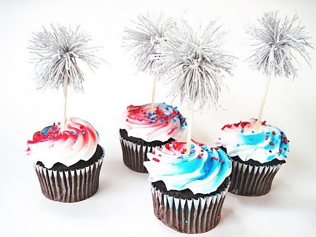 sparkler cupcakes.  So cute!
