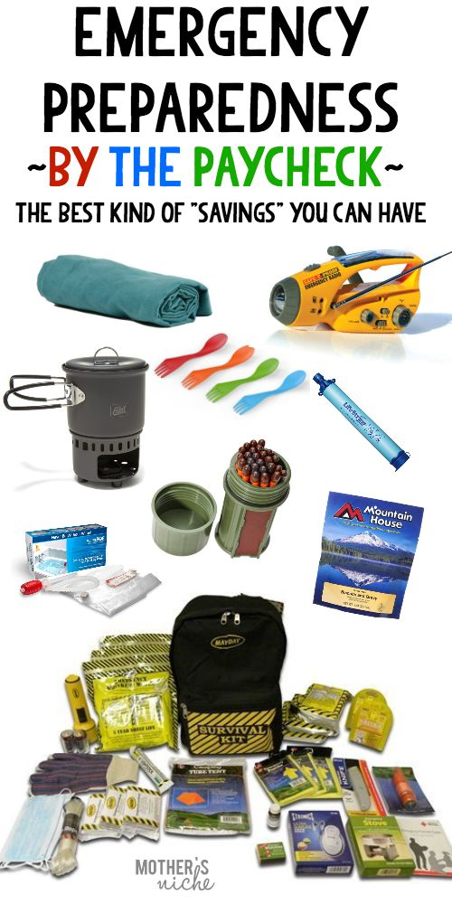 Do whatever you can to be prepared! EVEN if that means buying one item each paycheck to add to your 72-hour kit. It may save your life one day