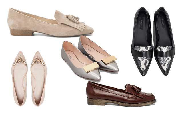 Los zapatos planos sustituyen a los tacones en la oficina. #tendencias #zapatos #primavera #oficina