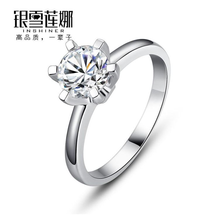 Silver Snow Nina Swarovski Zirconia Series S925 Silver Ring Ring Lettering Singles Pearl Engagement Rings Matching Wedding Bands From Wen3, $99.52| Dhgate.Com