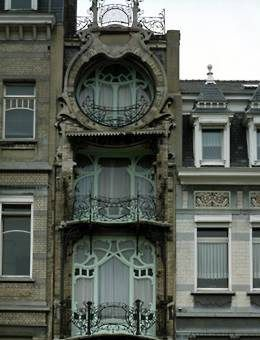Built by architect Gustave Strauven, 1903 Maison Saint-Cyr, Brussels, Belgium