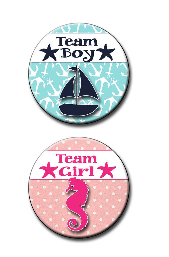 Team Boy Team Girl Nautical Gender Reveal by ItsYourPartyPinit
