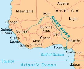 Map Of Africa Niger River | Map Of Africa