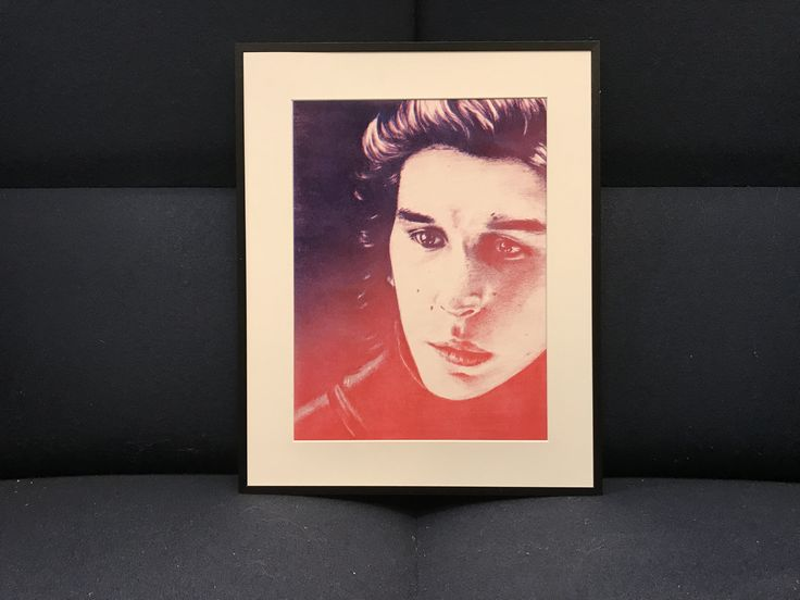 I just added my Kylo Ren risoprint to my etsy shop! Only 4 copies of this print available. The print is made from a pencil drawing from my Moleskine sketchbook and then risoprinted in two colors to create a gradient effect. Let me know what you think! Link in bio^