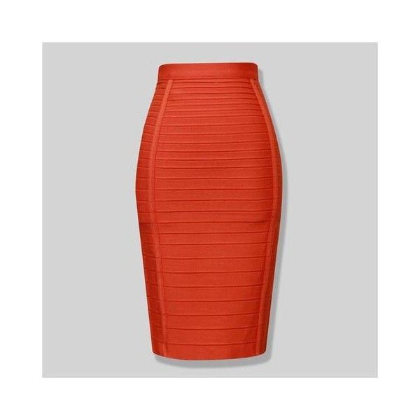'Phases' Bandage Pencil Skirt ($44) ❤ liked on Polyvore featuring skirts, knee length pencil skirt, pencil skirts, bandage pencil skirt, bandage skirts and red pencil skirt