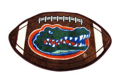 Florida Gators Football Shaped Throw Rug