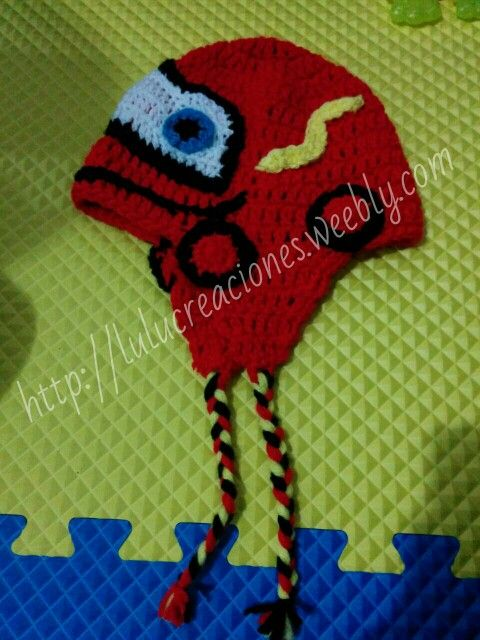 Gorro cars crochet $150