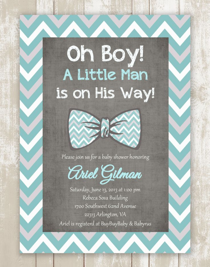 Oh Boy Little man Light Tiffany blue gray by StyleMeShabbyChic, $18.50
