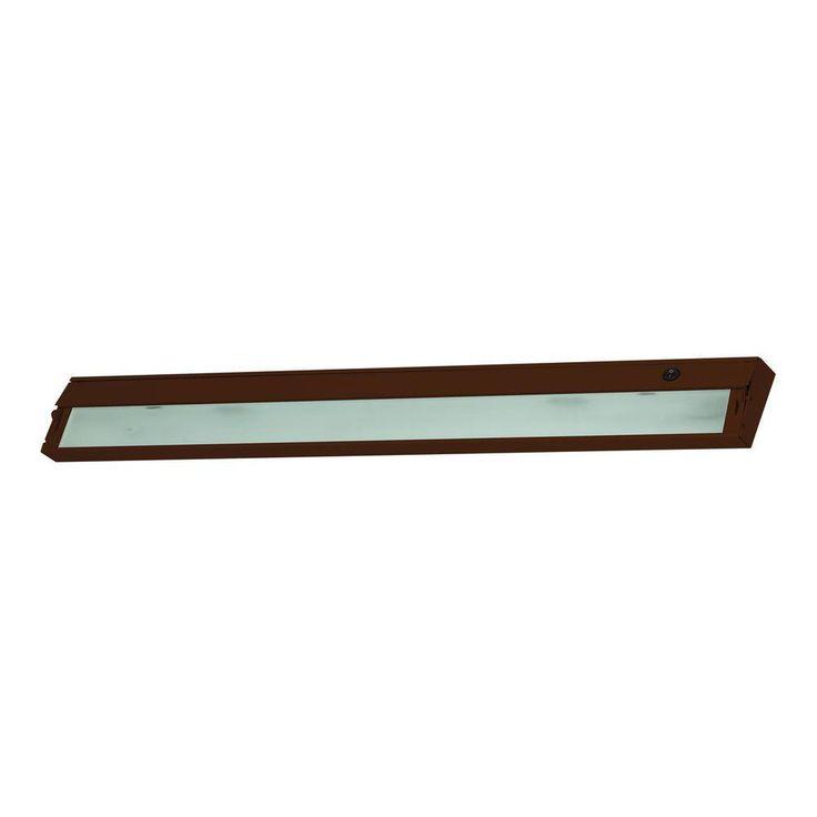 Titan Lighting Zeeline 6-Lamp Xenon Bronze Under Cabinet Light with Diffused Glass