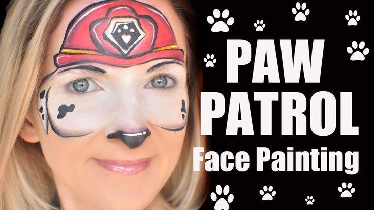Paw Patrol Face Painting Tutorial