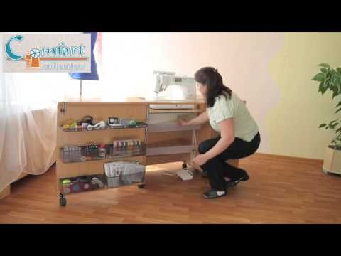 Sewing table and overlocker table - YouTube