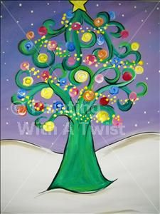 It's Christmas Time! - Sarasota, FL Painting Class - Painting with a Twist