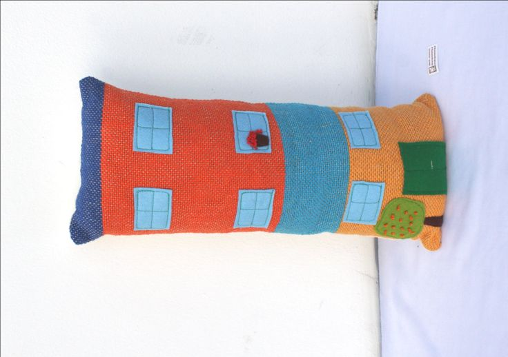 Handwoven BIG house, pillow, plush by ERGANIweaving on Etsy