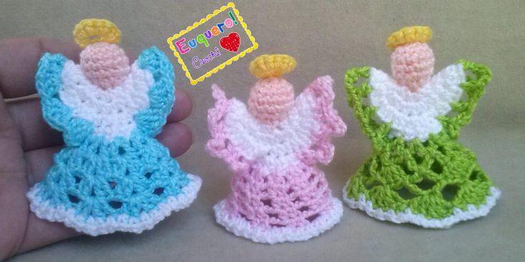 Angels - 3 Anjos feitos em crochê