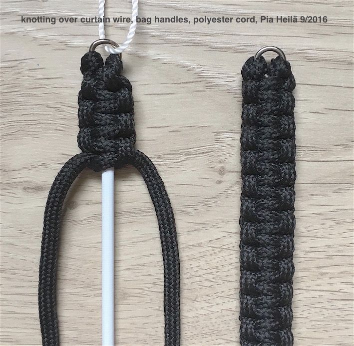 knotting on curtain wire, perfect for bag handles ect., Pia Heilä 9/2016