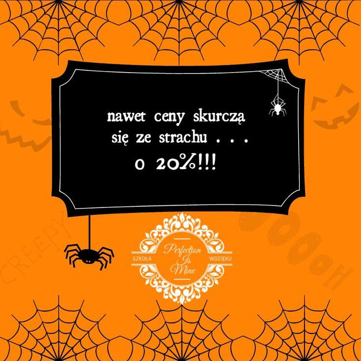 BOOoo-hoo! Jest strasznie, ale nie bój się korzystać ze zniżki ! :) #zniżka # promocja #halloween #kobieta #szkolwdzieku
