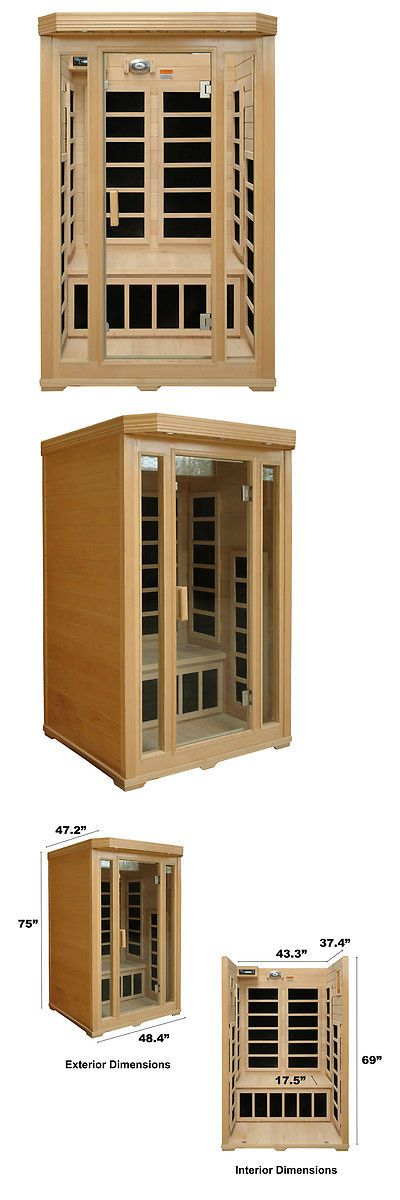 Saunas 181054: Crystal Sauna Basic Series 2 Person Carbon Far Infrared Sauna -> BUY IT NOW ONLY: $1059.99 on eBay!