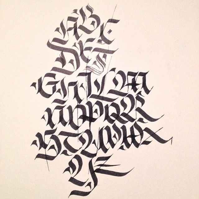 Alphabet Training Fraktur Calligraphy Alphabet