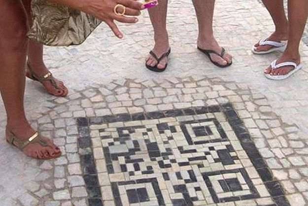 Sidewalk Design To Provide QR Codes With Tourist Information