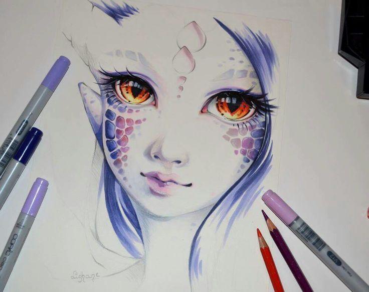 """Dragonborn Beth""  By: lighane.deviantart"