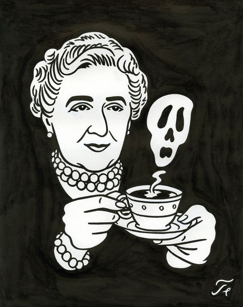 "Agatha Christie - Dessin pour la couverture du Magazine ""Lire""    Floc'h - Print out and frame for mantle.."