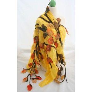 Felted scarf (wool and silk), Angellum.pl,$60, angellum@interia.pl