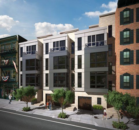 Modern townhomes in old city bring new look to for Contemporary townhouse plans