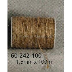 Κορδόνι Λινάτσα Διάσταση: 0.15cm/1.5mm  Καρούλι: 100m