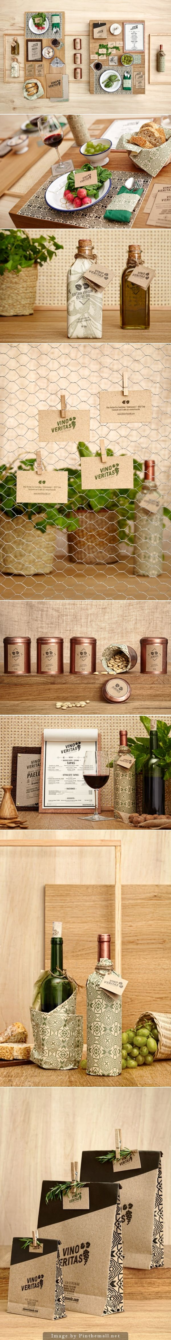Vino Veritas Eco-Gastrobar Oslo - Creative Agency: Masquespacio - See more at: http://www.packagingoftheworld.com/
